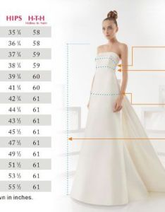 Size chart wedding dress also dresses rh photospot