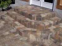 paver patio steps | Brick Steps | Patio Stairs | Paver ...