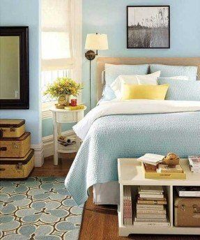Light blue bedroom with yellow accent pretty for guest room also phototer photos pi calm colors rh pinterest