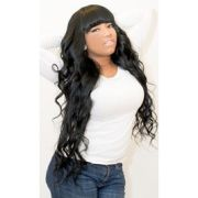 wavy with chinese bangs hairstyles