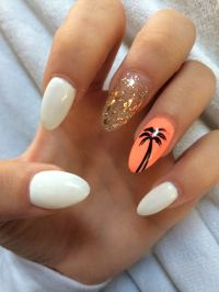 Bright Summer Acrylic Nails - Nail Ftempo