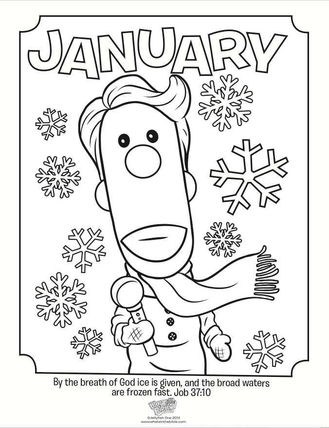 This winter coloring page features Buck Denver reporting