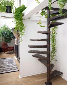 Architecture design also escalier industrielle avec une touche green inspiration rh pinterest