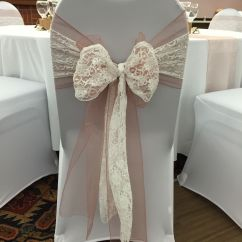 Chair Covers And Sashes To Hire Frontgate Lounge Cushions With Vintage Pink Organza Sash Doubled Up