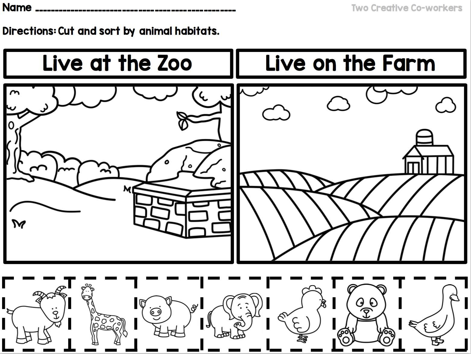 Animal Habitats Printable Book Sorting Worksheets Amp Posters