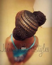 creative cornrow hairstyle