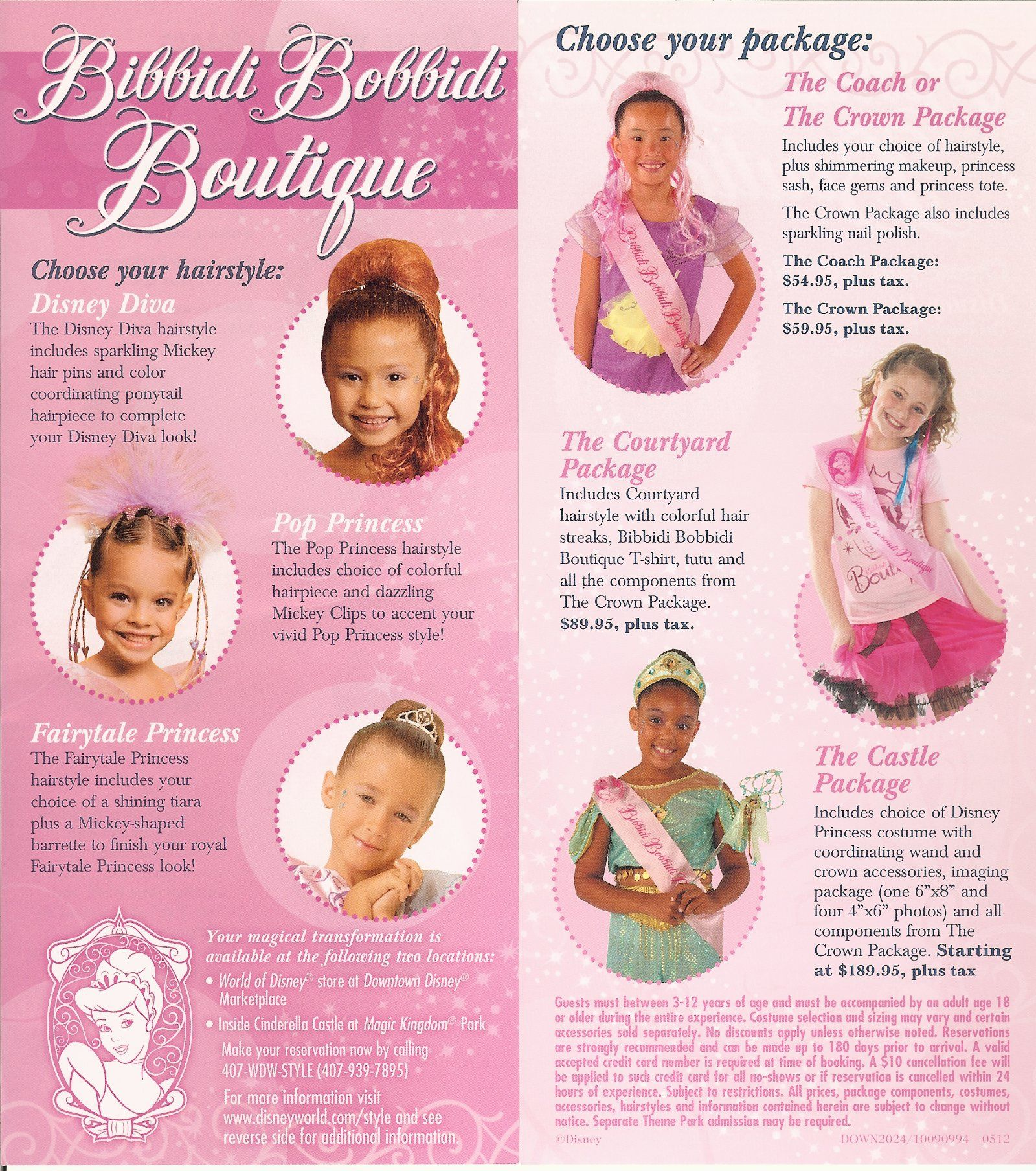 Bibbidi Bobbidi Boutique Brochure There Are Different Packages