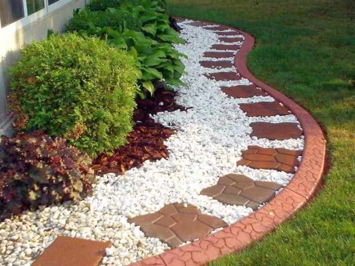 Simple Rock Garden Ideas With Brick Tiles Landscaping Ideas
