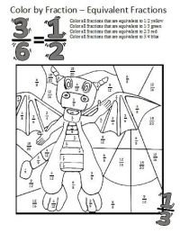 Equivalent Fractions Worksheets...these coloring sheets ...