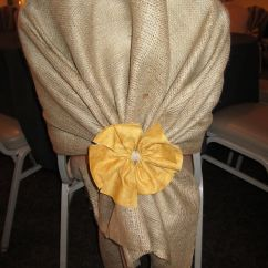 Burlap Chair Covers For Folding Chairs Wedding Ipswich Cover But With A Bow Instead Of The Flower