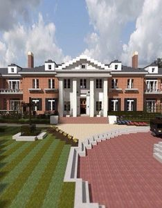 By minecraftsociety realistic minecraft mansion when  first saw this in   also best images about on pinterest fancy houses villas rh