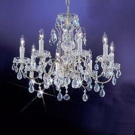 Classic Lighting Daniele 8 Light Chrome Crystal Chandelier 414 25 X25