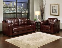 Burgundy Leather Sofa Set Furniture Maroon Sofa Living ...