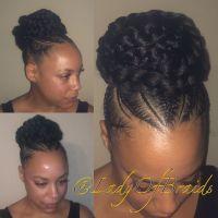 Love this Cute goddess braids into a bun protective ...