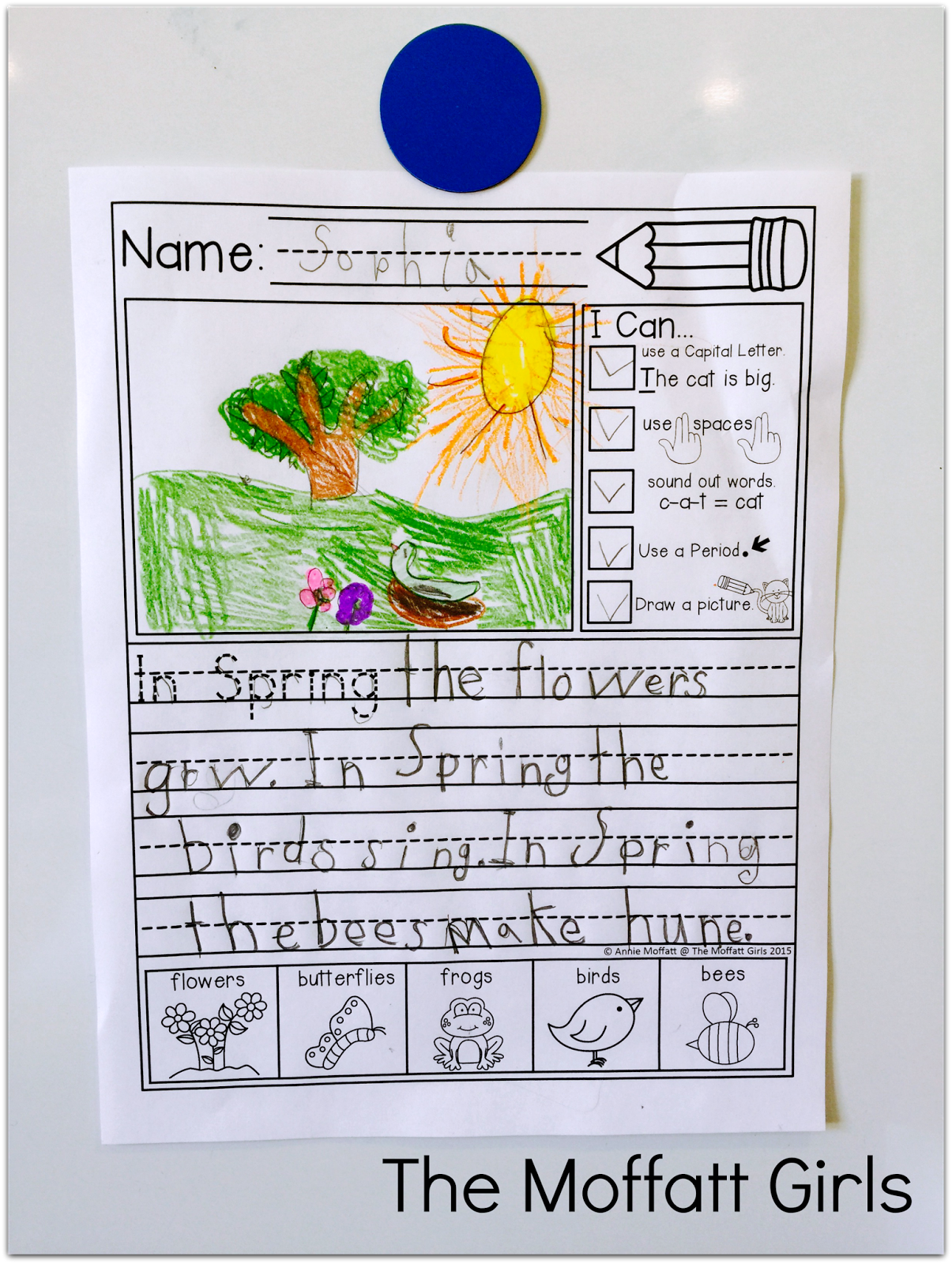 Kindergarten And 1st Grade Writing Journal Prompts With I Can Statements And An Illustrated
