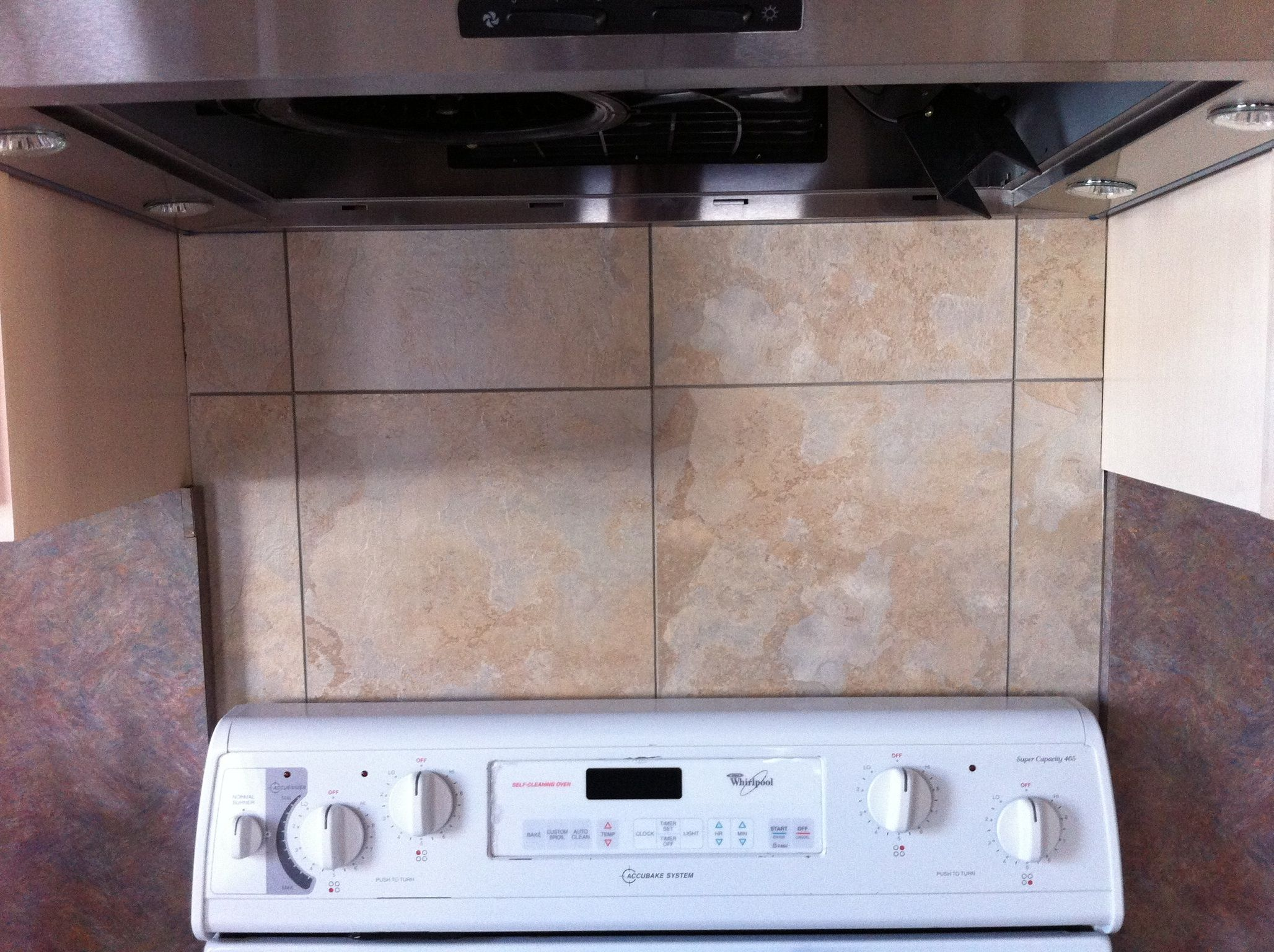 cheap kitchen flooring remodeling companies made a super and easy backsplash using simple vinyl