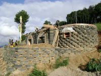 Paxan School Building #1 With Tire Retaining Wall in ...