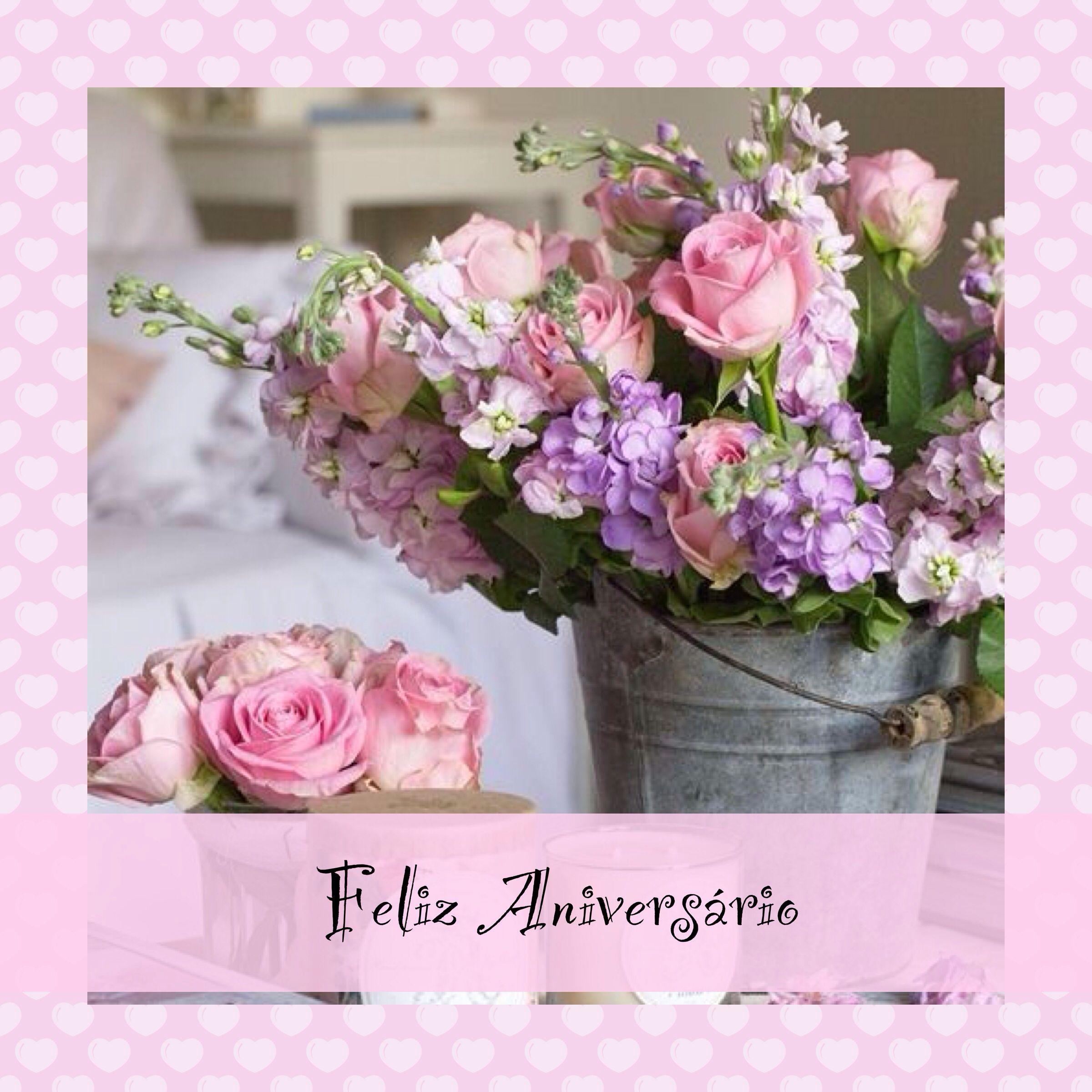 Happy Birthday Shabby Chic Flowers