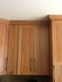 CROWN MOLDING: pairs well with shaker style cabinetry ...