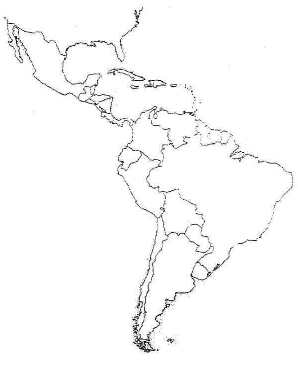 Blank Latin America Map Quiz Social studies Pinterest
