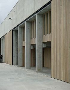 Facade design office building also and warehouse at temse by claessens architecten rh pinterest