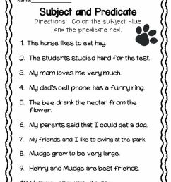 Subject and Predicate Worksheet   Subject and predicate [ 1008 x 816 Pixel ]