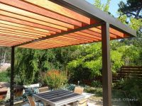 Modern Steel and Wood Pergola | Garden - Outdoor Rooms ...