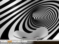 3d Swirl of Hope Black and White Wallpaper | 3D Wallpaper ...