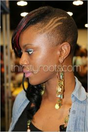 shaved long weave styles