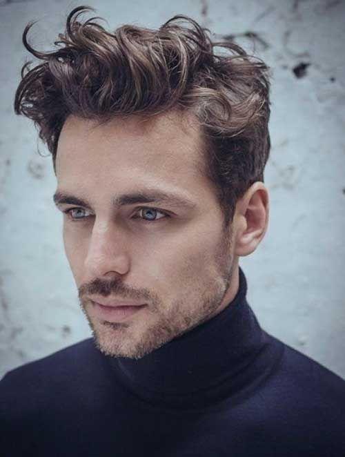 Men Wavy Pompadour Cuts Hair Hairstyle Pinterest Side Curls