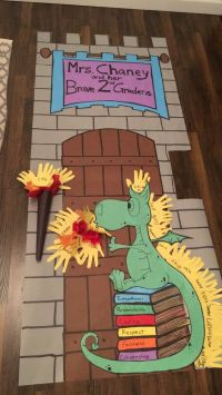 Castle quest fun run door decoration. | Classroom Ideas ...