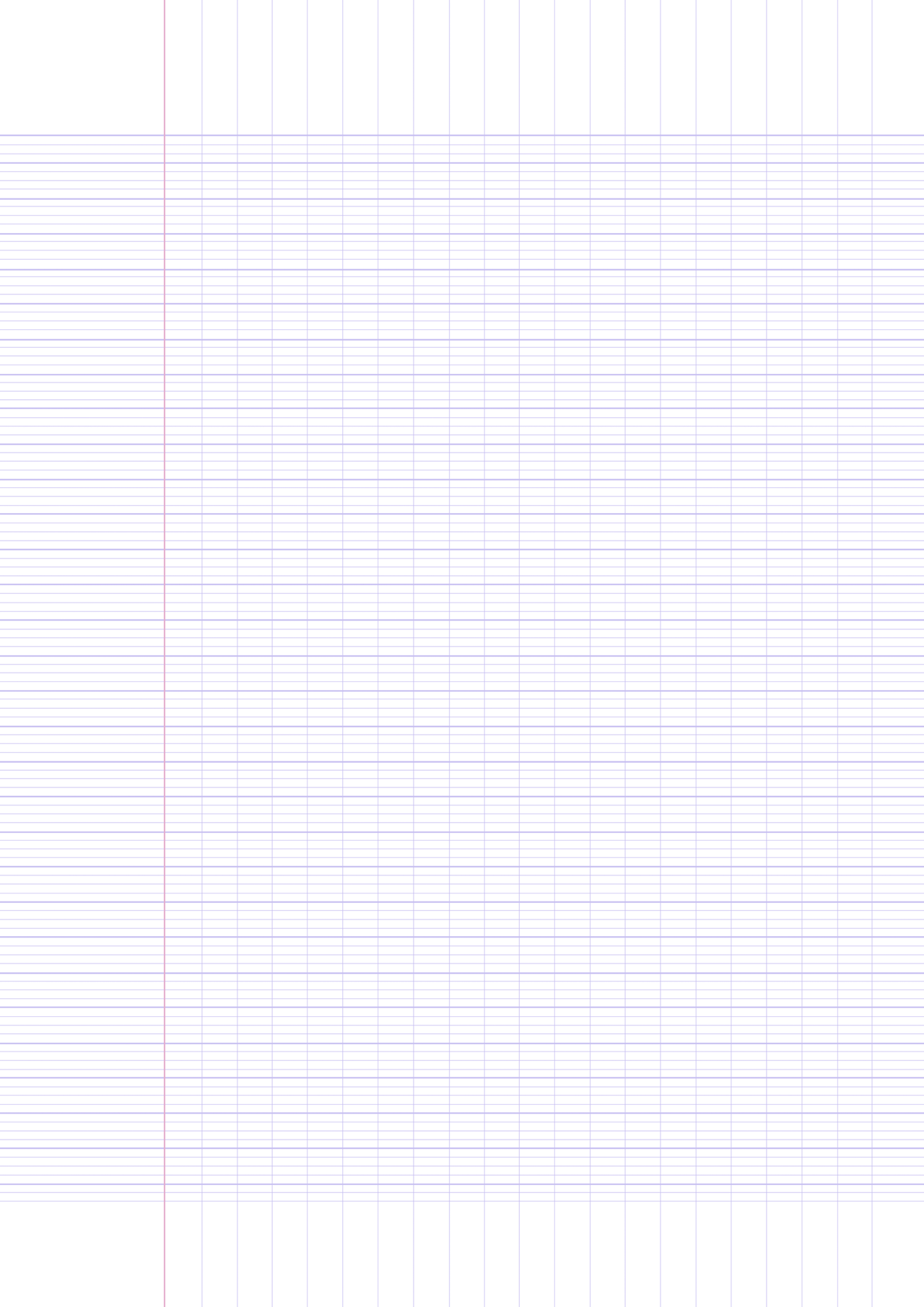 Printable French Ruled Paper Template A4 Size By