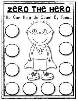 ZERO the HERO Poster {Student Math Helper} Count by 10s