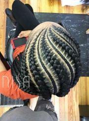cornrows fire hair tips &
