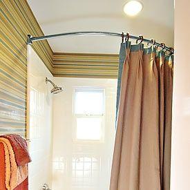 Shower Curtain Rods Images Bathroom Ideas Pinterest Curtain