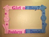 Gender Reveal Party Photo Booth Frame To Take Pictures ...