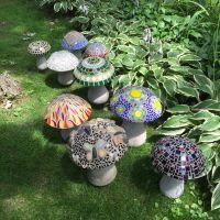 Concrete mosaic mushrooms  | Pinteres