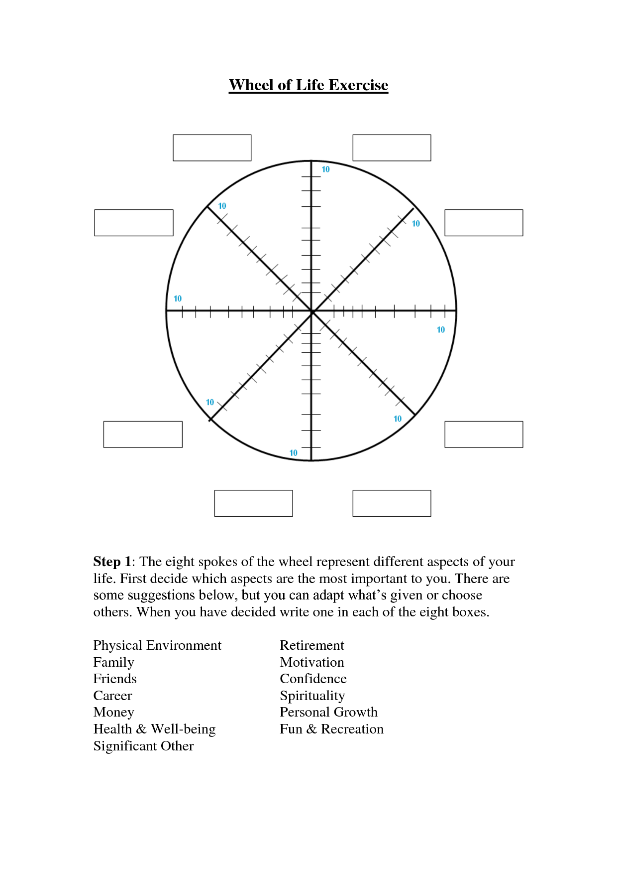 Wheel Of Life Exercise 2
