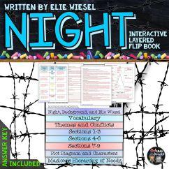 Night Plot Diagram Renault Kangoo Wiring By Elie Wiesel Novel Study Literature Guide Flip