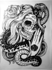 amazing tattoo design - sugar skull