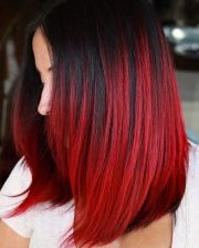 brilliant bright red hair color