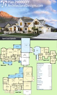 Plan 290000IY: Sport Court Splendor | Luxury houses ...
