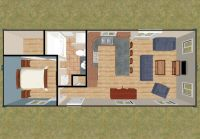 640 square feet of living space from two 40 foot ...