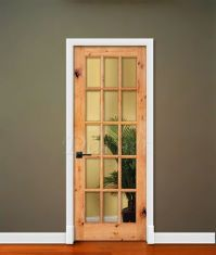10, 15 Lite French Clear Glass Knotty Alder Rustic 6'-8 ...