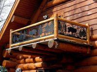 log cabin loft railing ideas