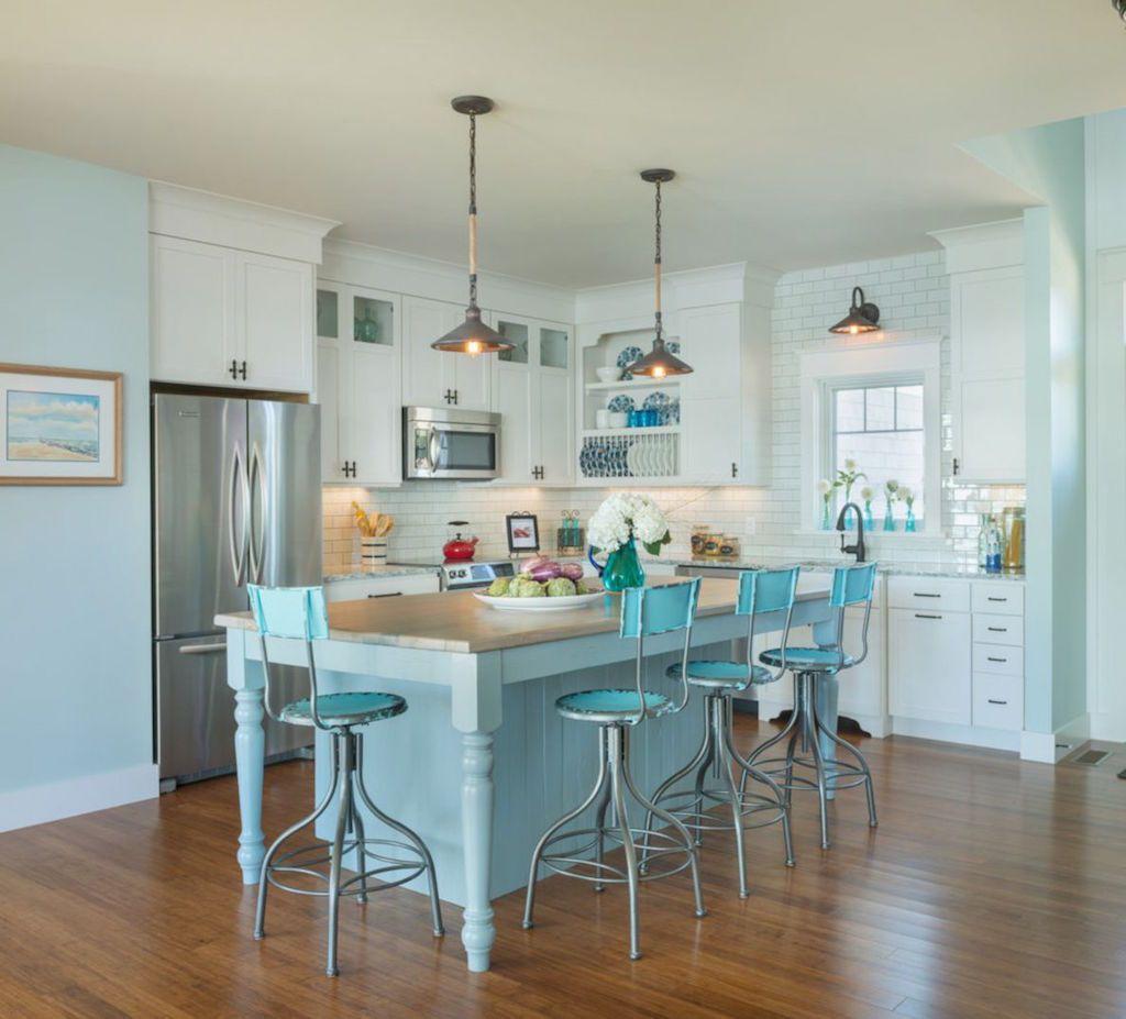 Best Kitchen Gallery: 20 Amazing Beach Inspired Kitchen Designs Peaceful Places Kitchen of White Beach Kitchen Design on rachelxblog.com