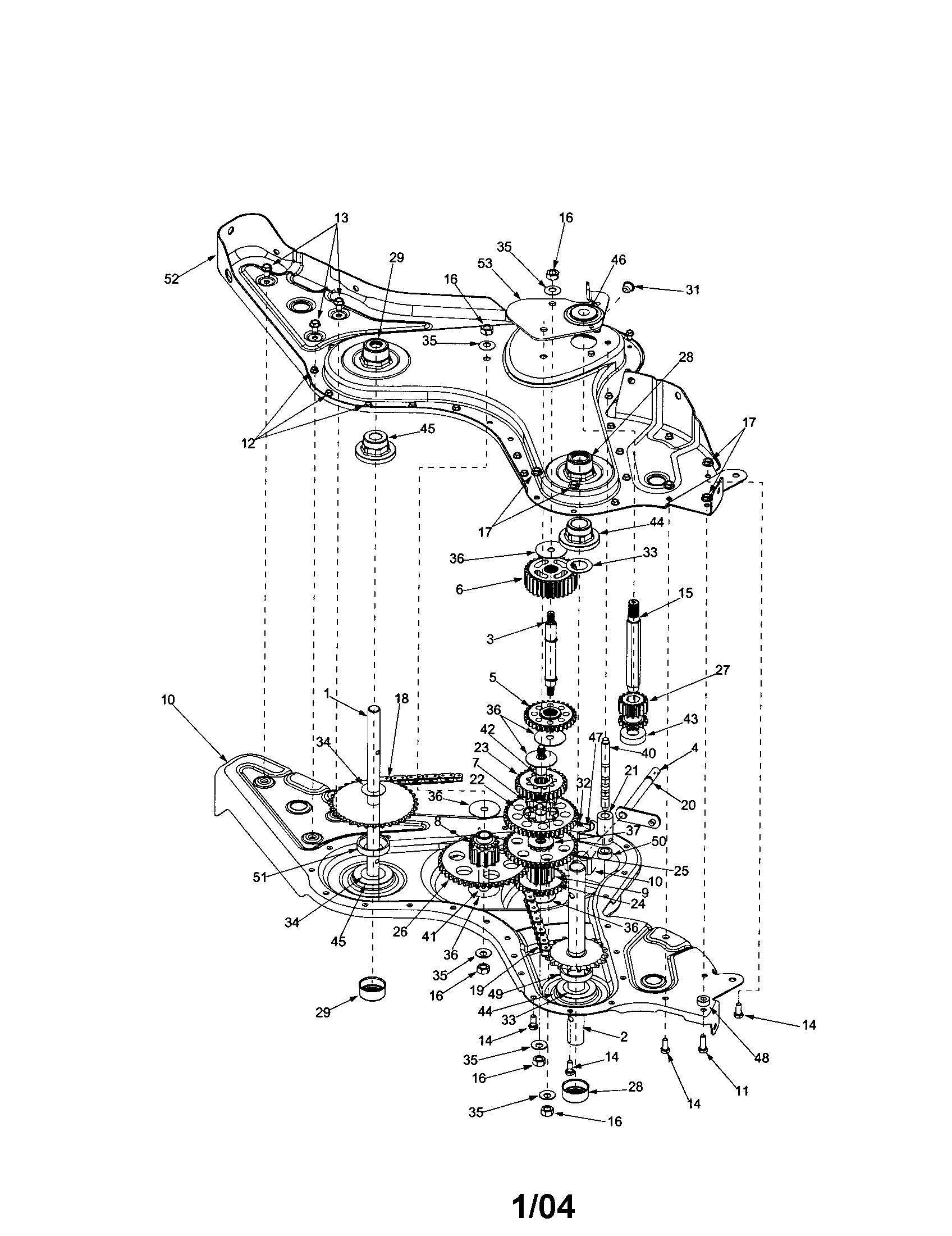 Garden Tiller Parts Diagram