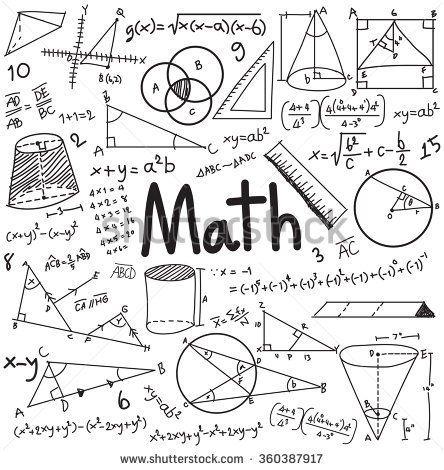 Math theory and mathematical formula equation doodle