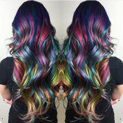 amazing rainbow hair color