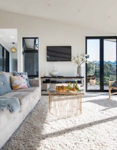 House also our living room feathering leather sling chairs nz sheepskins rh pinterest
